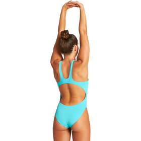 arena Solid Swim Tech High One Piece Swimsuit Women mint